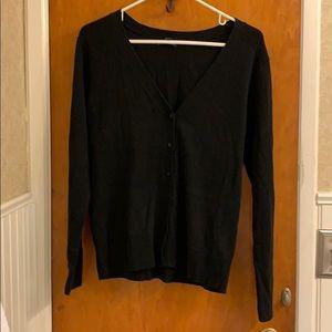 Gap black button down cardigan size large